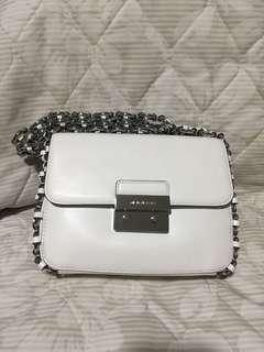Michael Kors flap bag optic white/ Leather