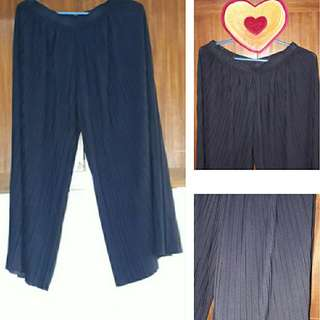 Oxford Blue Cullotes Pants