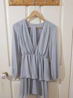 Purple/Grey Dress Size 6/XS