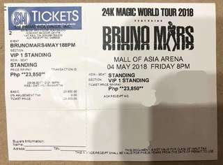 Bruno Mars Ticket VIP1