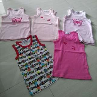 (2 pcs)Baby Singlets and rompers