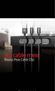 Brand new baseus peas cable  clip magnetic usb cord wire holder organiser