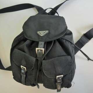 Authentic Prada Nylon Vitello Backpack