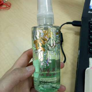 Bath and bodyworks body mist magic in the air