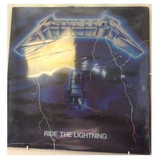 Vg+ Metallica record ride the lightning mfn original early press uk vinyl