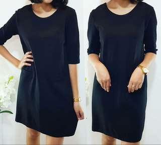 REPRICED! - 3/4 Sleeved Black Dress