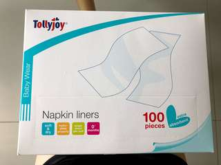 Tollyjoy Napkin Liners - 100 pieces