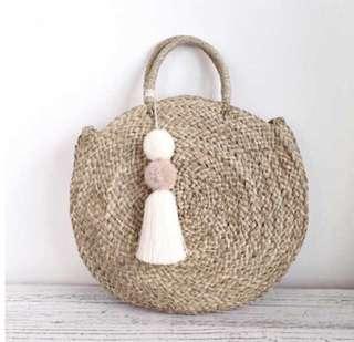 Rattan Circle Weave Bag