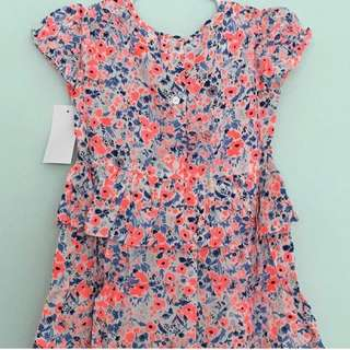 Oshkosh Floral Peplum Dress (New)