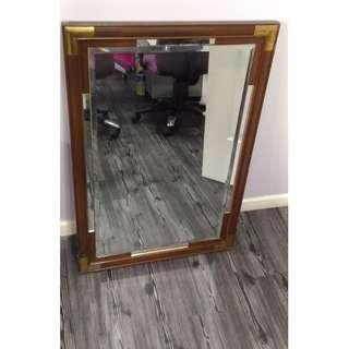 Mirror - Solid Wood Nyatoh/Jati (USED)