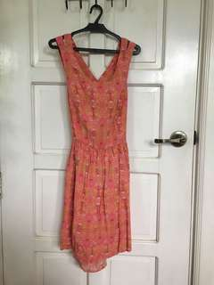 Forever 21 pink with yellow details dress