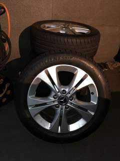 """Mercedes 17"""" rims and tyres"""