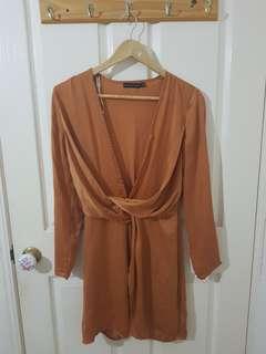 Dark Orange Dress Size 6/XS