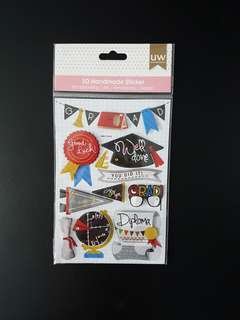 [INSTOCK] BN 3D Pop-up Stickers for Scrapbook - Graduation