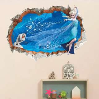 ❄️ Frozen Wall decal / wall stickers / home deco / party backdrop