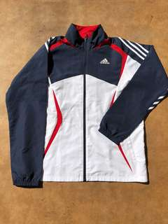 Adidas Navy White Red Tracksuit Top Bottom