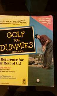 Golf for dummies book