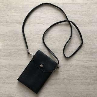 黑色斜孭小袋