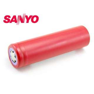 日版 日本三洋 Sanyo 18650 2600mAh 3.7V Battery 鋰電池 充電池 ( 適合 芭蕉扇 ) - 原裝正貨