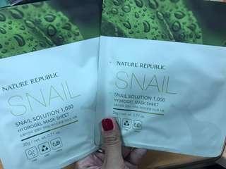 Nature republic snail solution hydrogel mask sheet