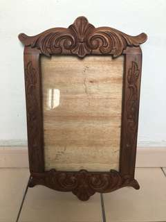 Antique style wood carved A4 size photo or certificate frame