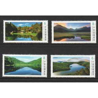REP. OF CHINA TAIWAN 2018 ALPINE LAKES SERIES III COMP. SET OF 4 STAMPS IN MINT MNH UNUSED CONDITION