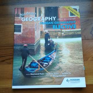 All about geography upper secondary human geography elective