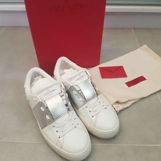 Valentino Colorblock Leather Sneakers