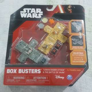 Legit Brand New Sealed Spin Master Disney Star Wars Box Busters Tusken Raider Attack The Battle Of Yavin Toy Figure