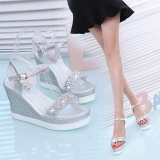 [$40 For 2 Pairs!] BN Shining Platform Shoes With Single Strap