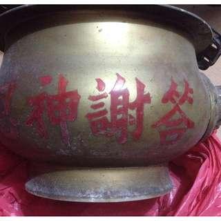 Giant size brass urn