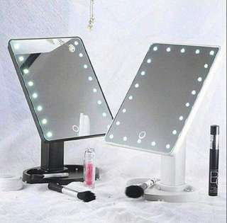 LED LIGHT VANITY PORTABLE HAND MIRROR WITH STAND💕