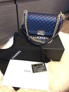 Boy Chanel 25cm Navy Blue