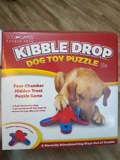 Kyjen Kibble Drop Dog Toy Puzzle Dog IQ games