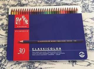 Carandache 水溶木顏色筆(30支)及附加用品(圖三可見)