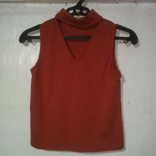 Red Sleeveless Top (Unbranded)
