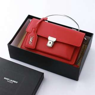 YSL Clutch Calfskin Leather