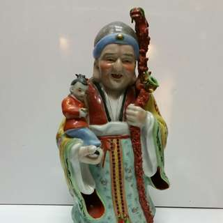 Old Chinese porcelain statue H38cm...marked Jin Dezhen