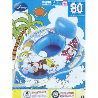 (Free Delivery) Disney Mickey Mouse and Friends Inflatable Baby Float Swimming Ring Seat with Rope