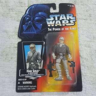 Legit Brand New Sealed Kenner Star Wars Han Solo Hoth Gear Blaster Pistol Assault Rifle Toy Figure
