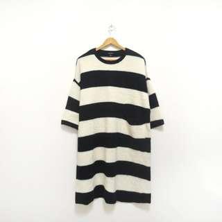 英國品牌monki寬鬆條紋針織長版上衣
