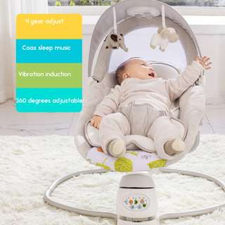 Baby Cot + mattresse Baby bed Auto swing chair play Sleeper Rocker Bouncer