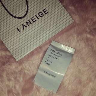 Laneige BB Cushion Pore Control - Refill Shade 21N Beige
