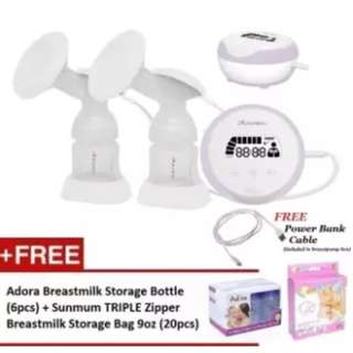 Autumnz ESSENTIAL Double Electric Breastpump *FREE GIFTS*
