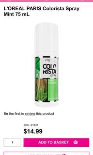 "1-Day Colorista spray in Shade ""mint"""