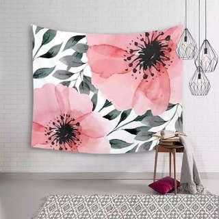 小預算佈置術紅花掛布裝飾掛布壁畫