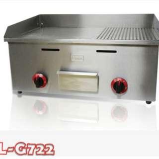 Mesin pemanggang daging model teppan (Gas Griddle)