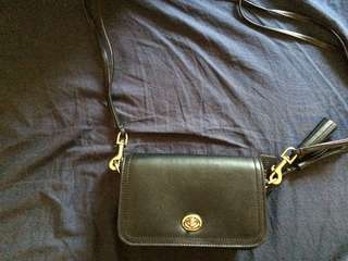 AUTHENTIC BLACK COACH SLING BAG