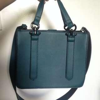 Zalora Dark Green Leather Sling Bag