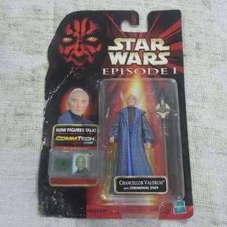 Legit Brand New Sealed Hasbro Star Wars Chancellor Valorum Ceremonial Staff Toy Figure